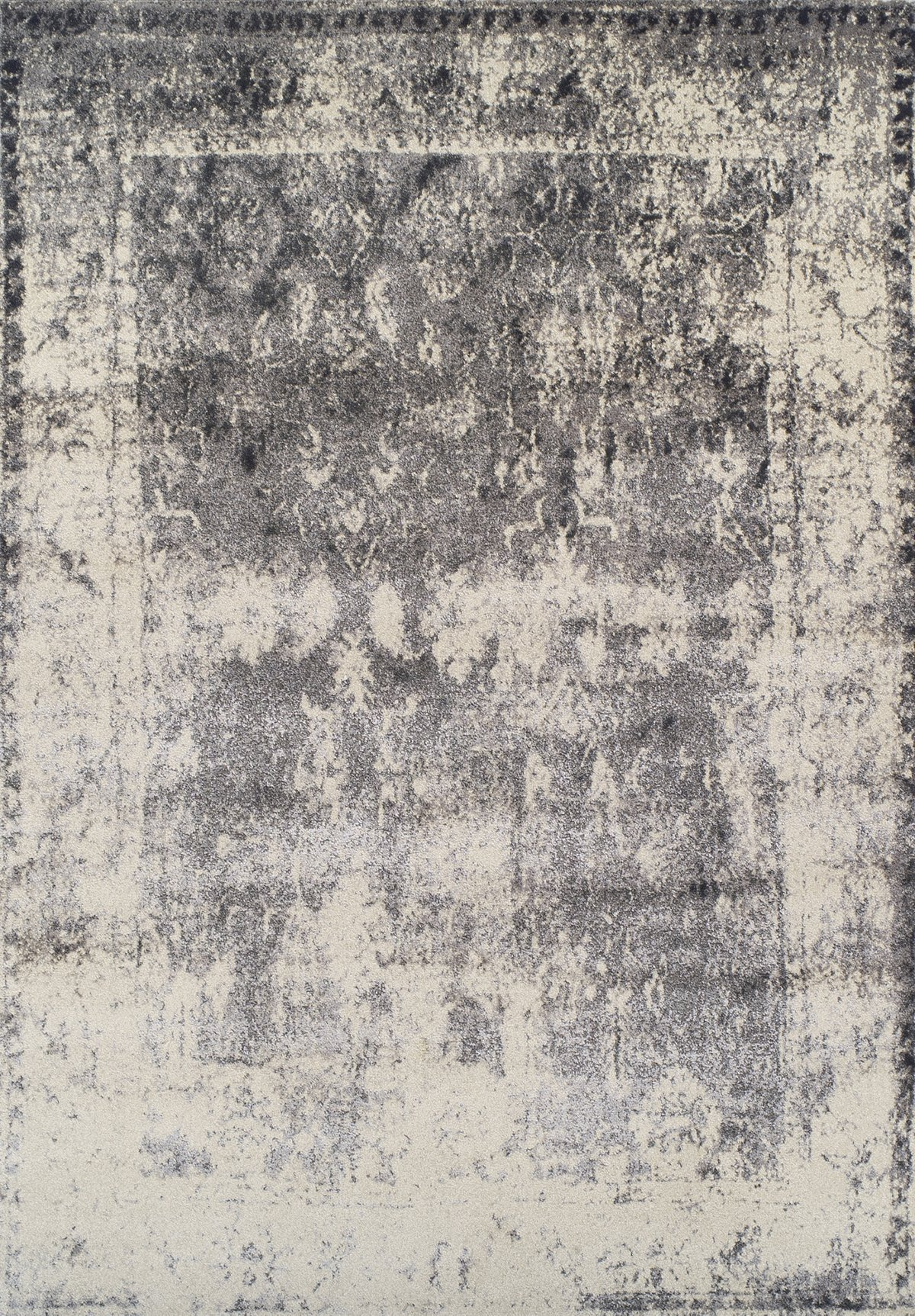 Antiquity Gray Poly 5x8 Area Rug