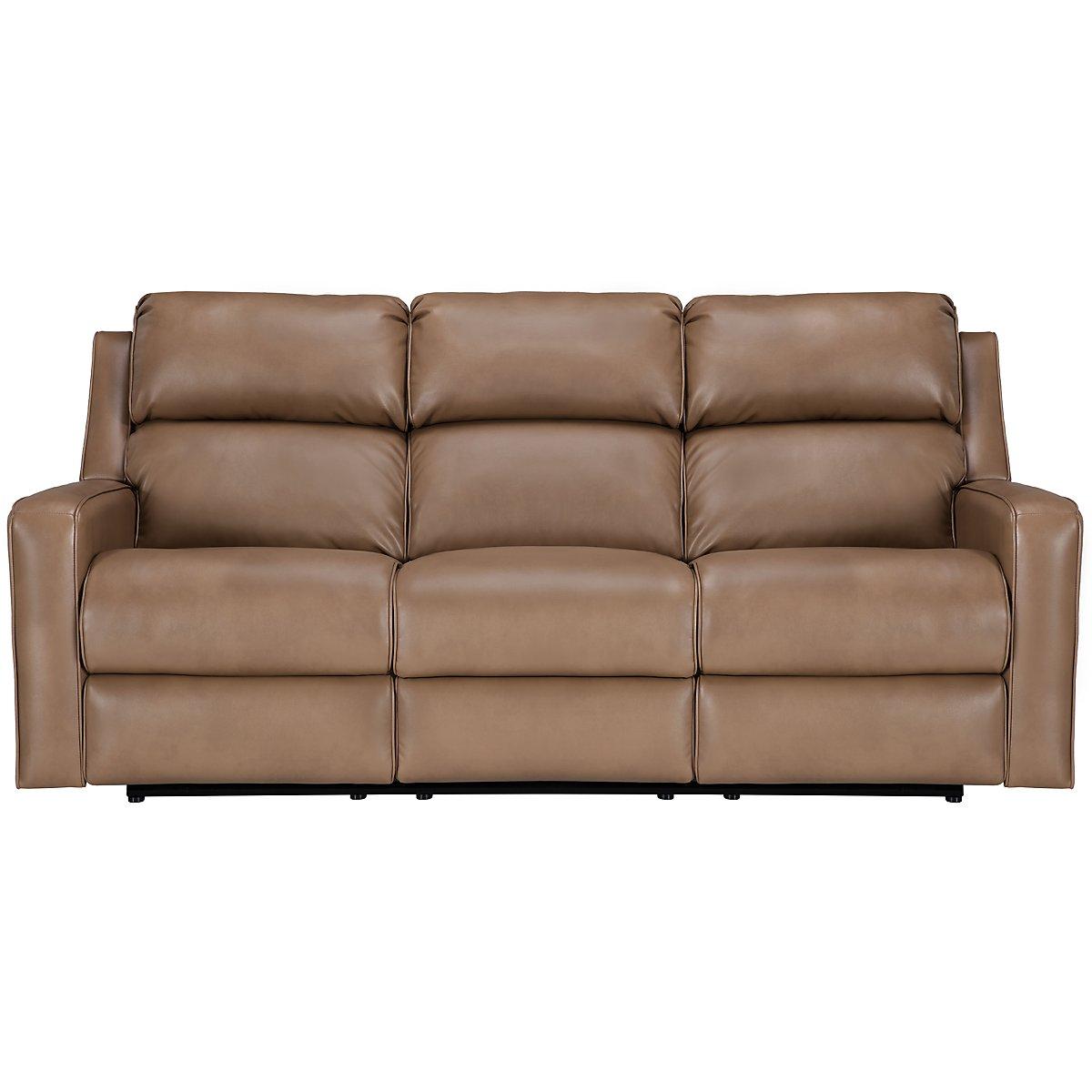 Rocco Dark Taupe Microfiber Power Reclining Sofa
