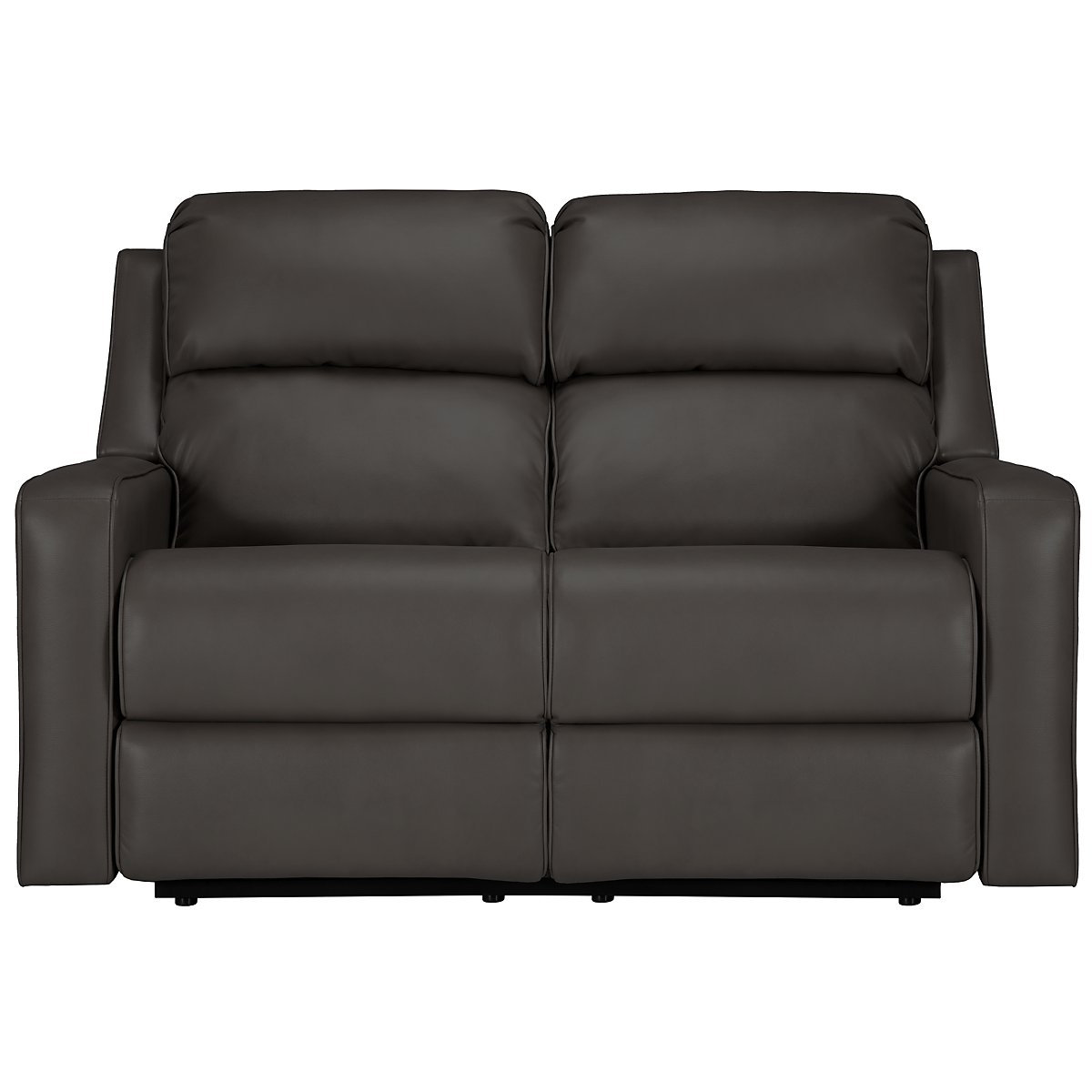 Rocco Gray Microfiber Power Reclining Loveseat