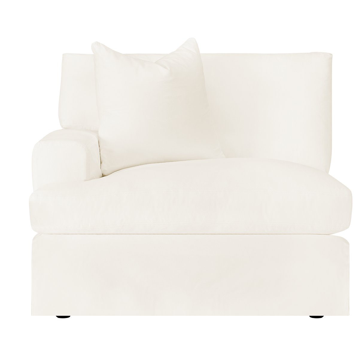 City Furniture: Delilah White Fabric Small Two-Arm Sectional