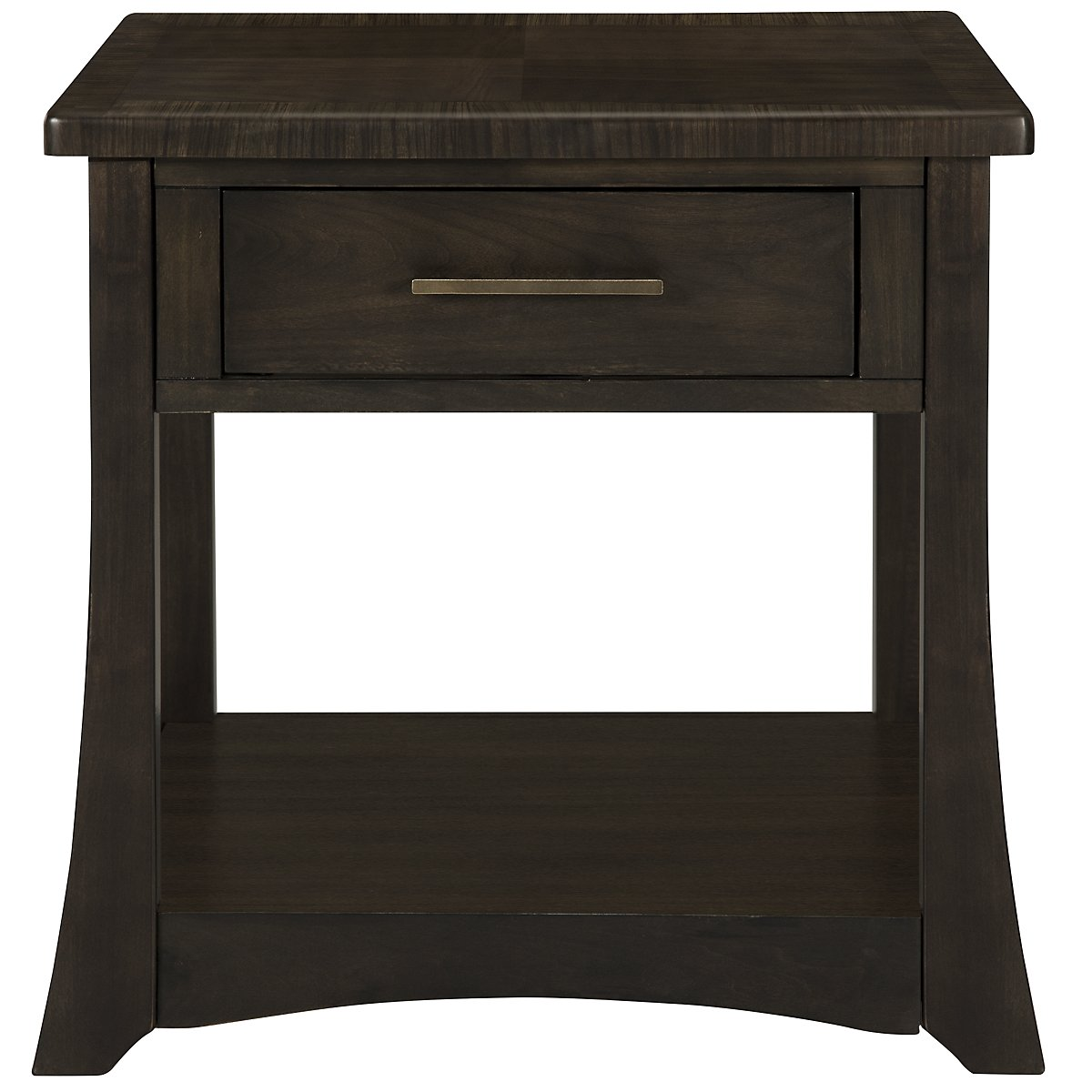 Milan Dark Tone Storage End Table