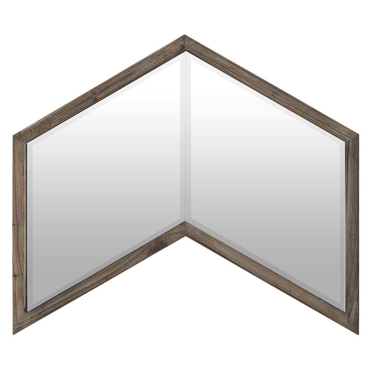Chevren Wood Mirror
