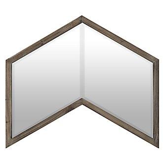 Chevren Wood Mirror