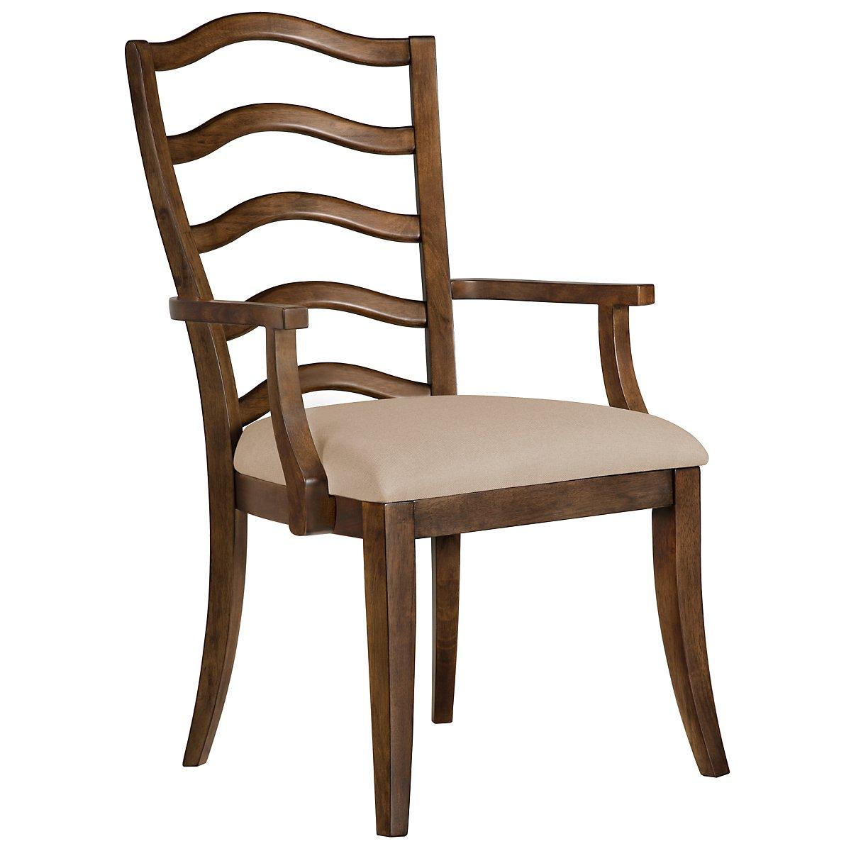 Savoy Mid Tone Wood Arm Chair