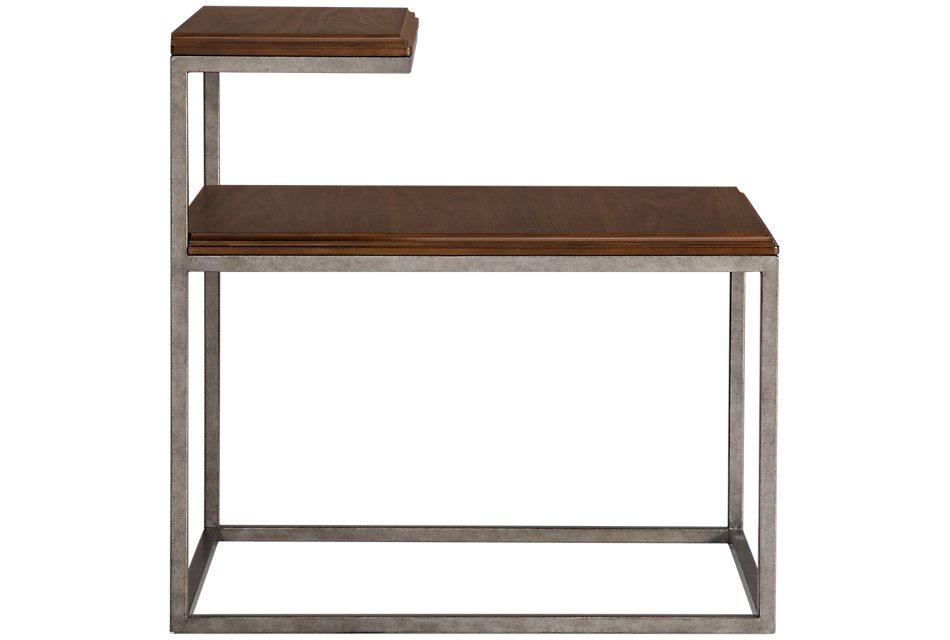 Savoy Mid Tone Metal End Table