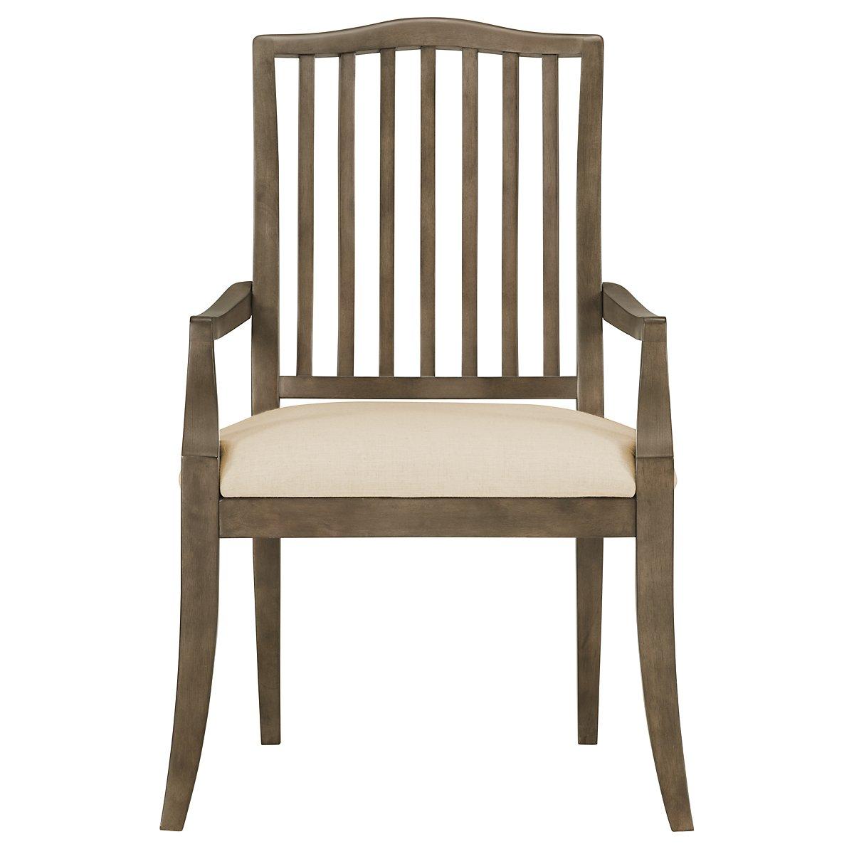 City Furniture Preston Gray Wood Arm Chair