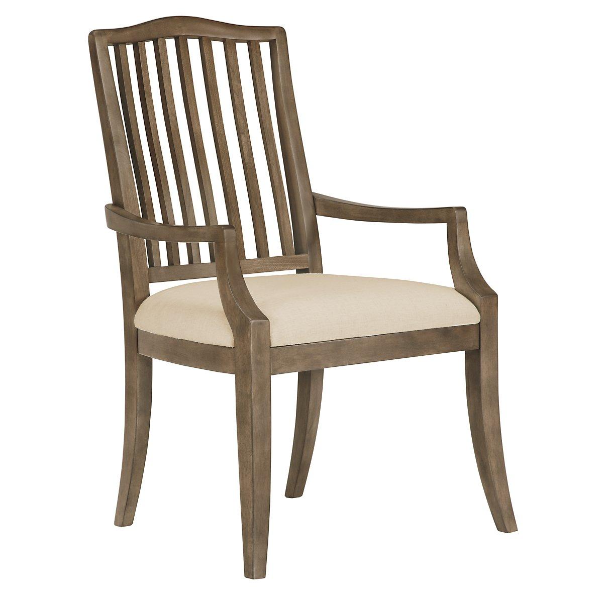 Preston Gray Wood Arm Chair