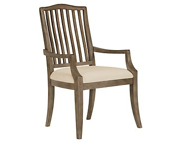 Preston Gray Wood Arm Chair