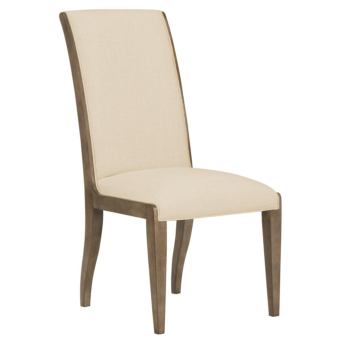 Preston Gray Sloped Upholstered Side Chair
