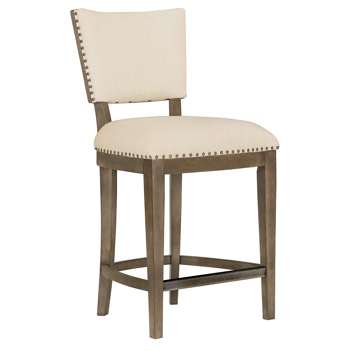 """Preston Gray 24"""" Upholstered Barstool"""