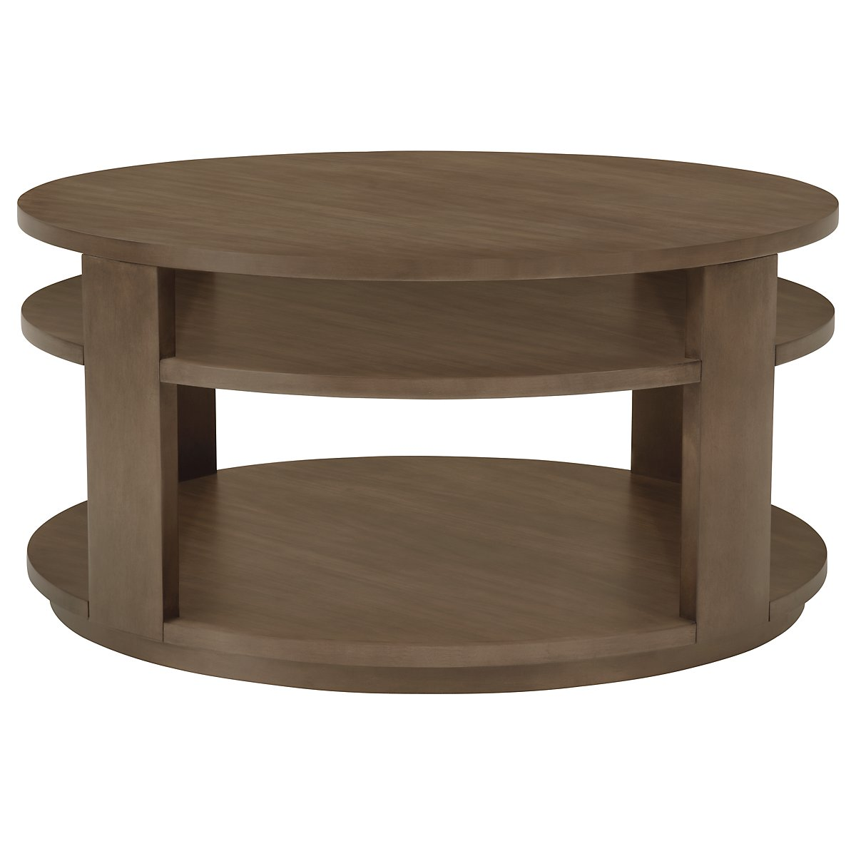 Preston Gray Round Coffee Table