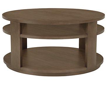 Preston Gray Round Coffee Table