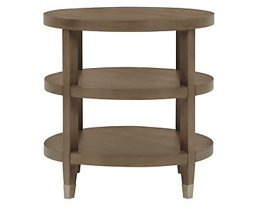 Preston Gray Small Round End Table