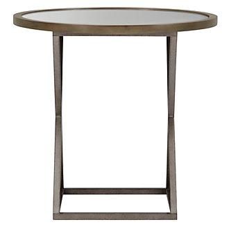 Preston Gray Glass Round End Table