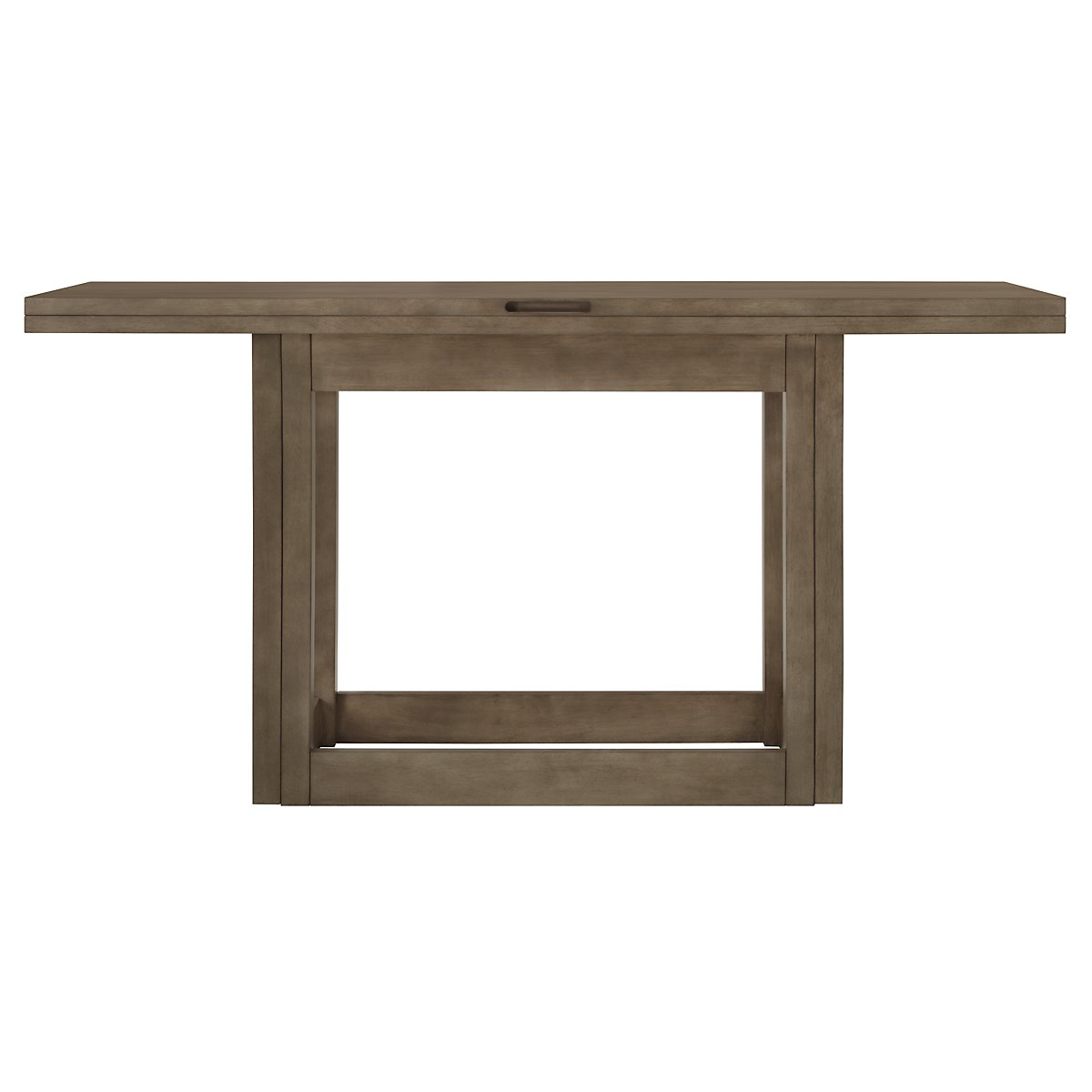 Preston Gray Flip-Top Sofa Table
