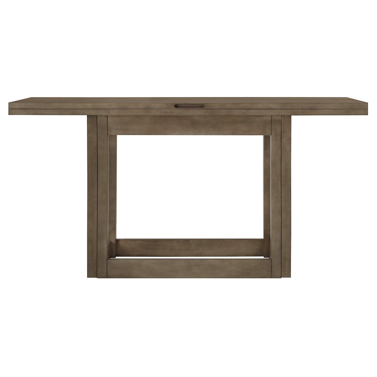 Preston Gray Flip-Top Sofa Table