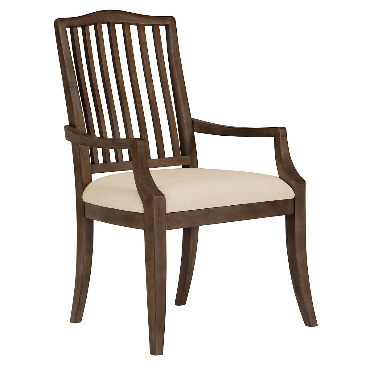 Preston Mid Tone Wood Arm Chair
