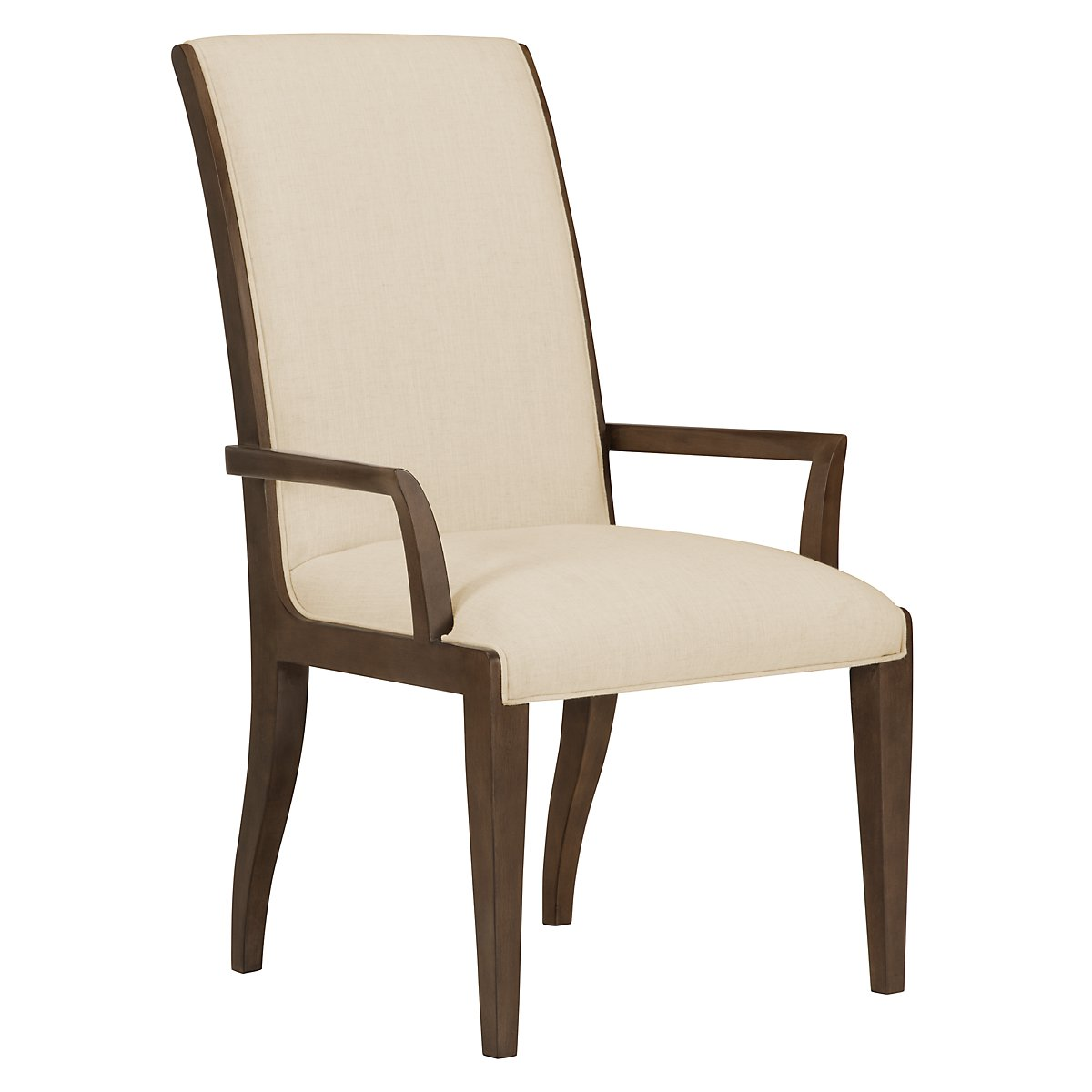 Preston Mid Tone Wood Upholstered Arm Chair