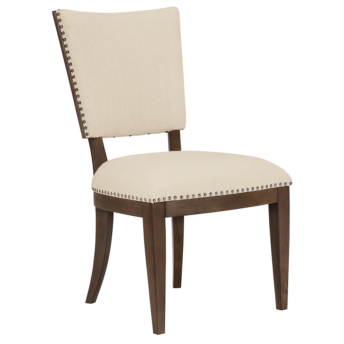 Preston Mid Tone Wood Upholstered Side Chair