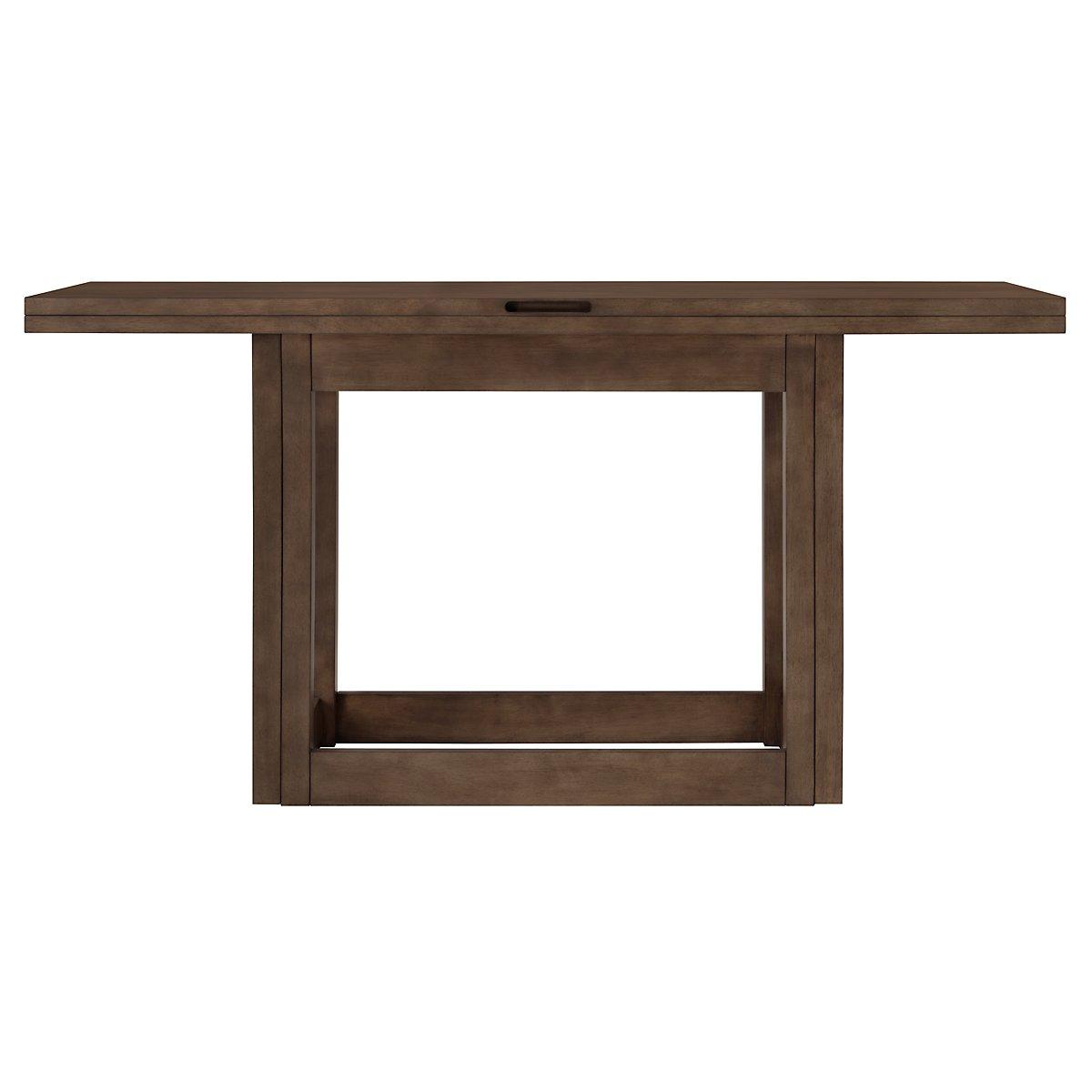 Preston Mid Tone Flip Top Sofa Table