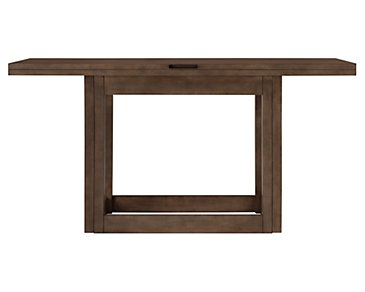 Preston Mid Tone Flip-Top Sofa Table