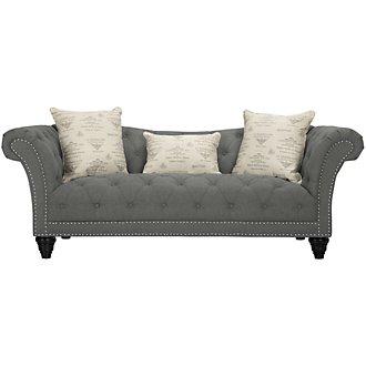 Hutton Dark Gray Fabric Sofa