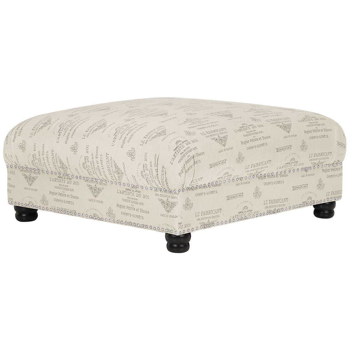 Hutton Dark Tone Square Cocktail Ottoman