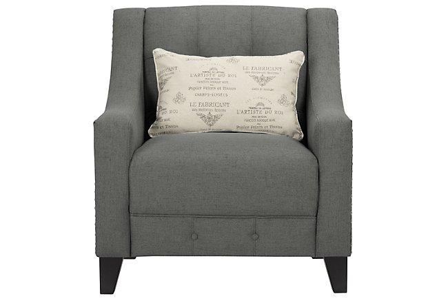Hutton Dark Gray Fabric Chair