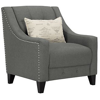 Hutton Dark Gray Fabric Chair
