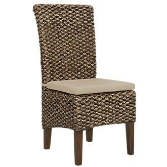 Kona Mid Tone Cushioned Woven Side Chair