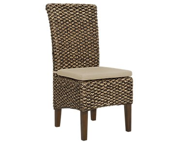 Kona Mid Tone Cushioned Woven Side Chair
