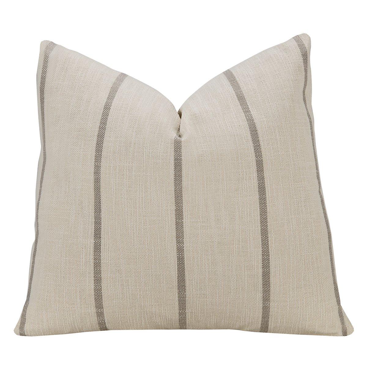 Bellevue Stripe Fabric Square Accent Pillow