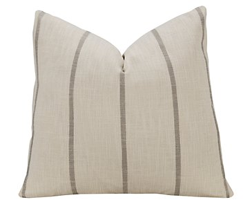 Bellevue Stripe Fabric Square Accent Pillow