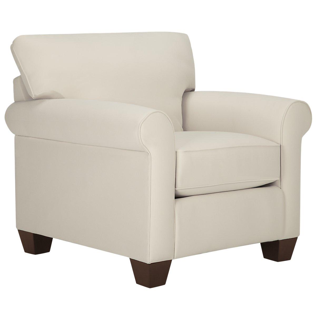 Corlis Light Beige Fabric Chair