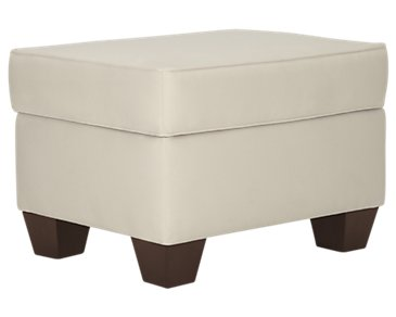Corlis Light Beige Fabric Ottoman