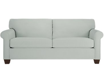 Corlis Light Blue Fabric Sofa