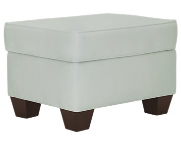 Corlis Light Blue Fabric Ottoman