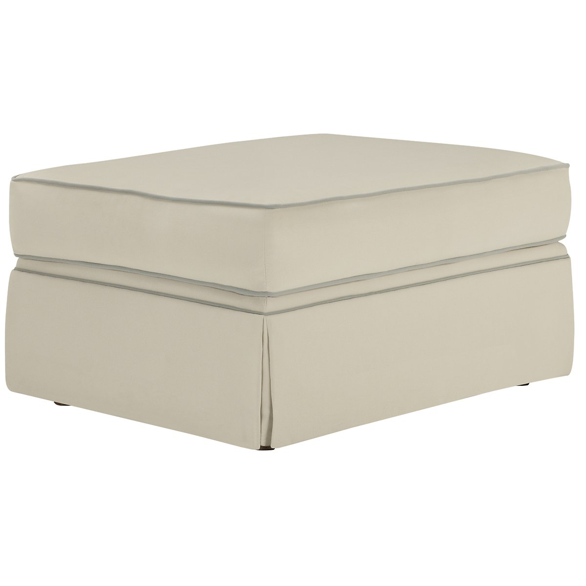 Malory Light Beige Fabric Ottoman