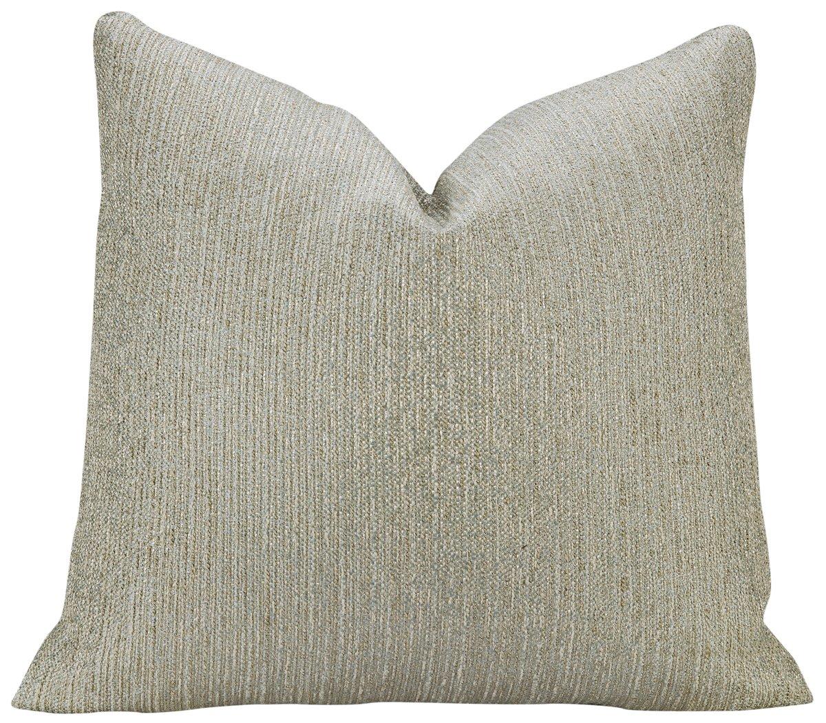 Splatch Light Blue Fabric Square Accent Pillow