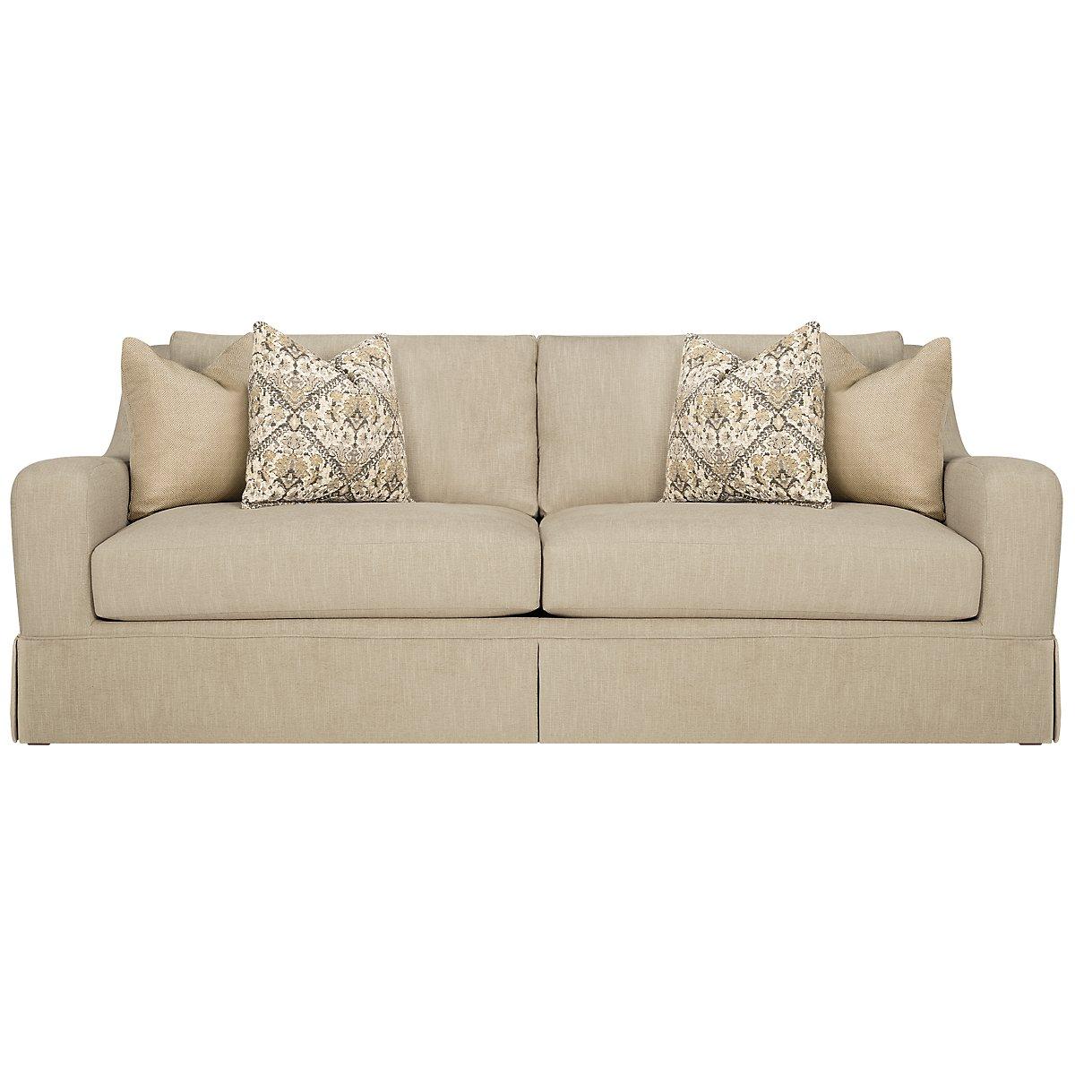 Hallie Beige Fabric Sofa