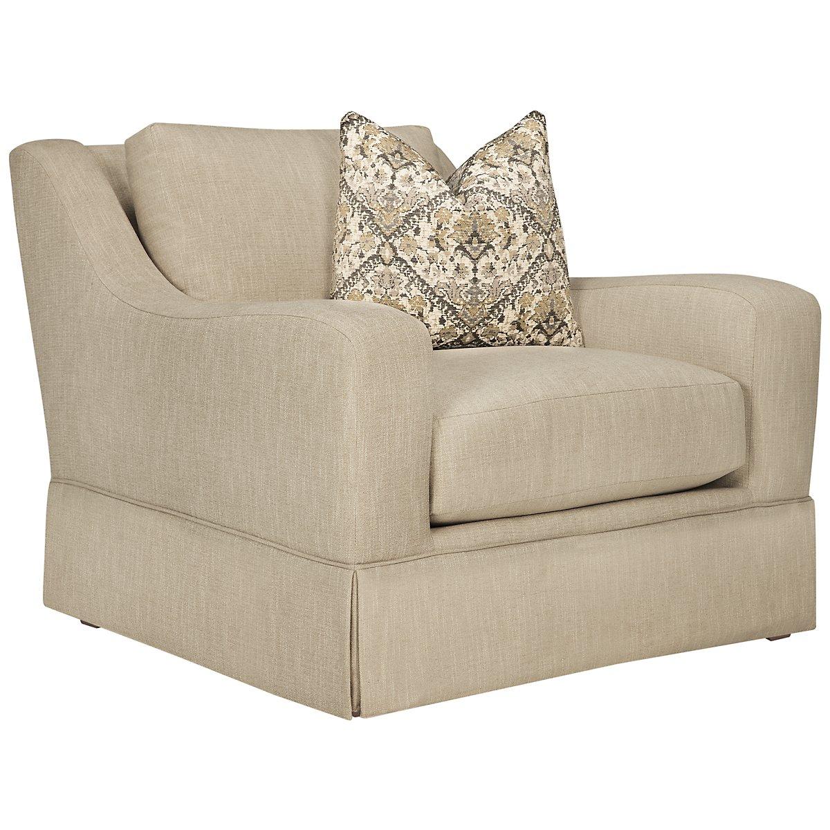 Hallie Beige Fabric Chair