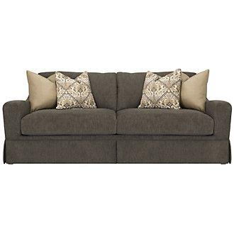 Hallie Dark Gray Fabric Sofa