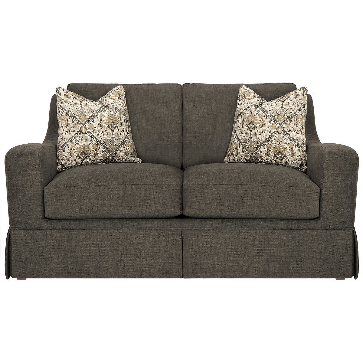 Hallie Dark Gray Fabric Loveseat