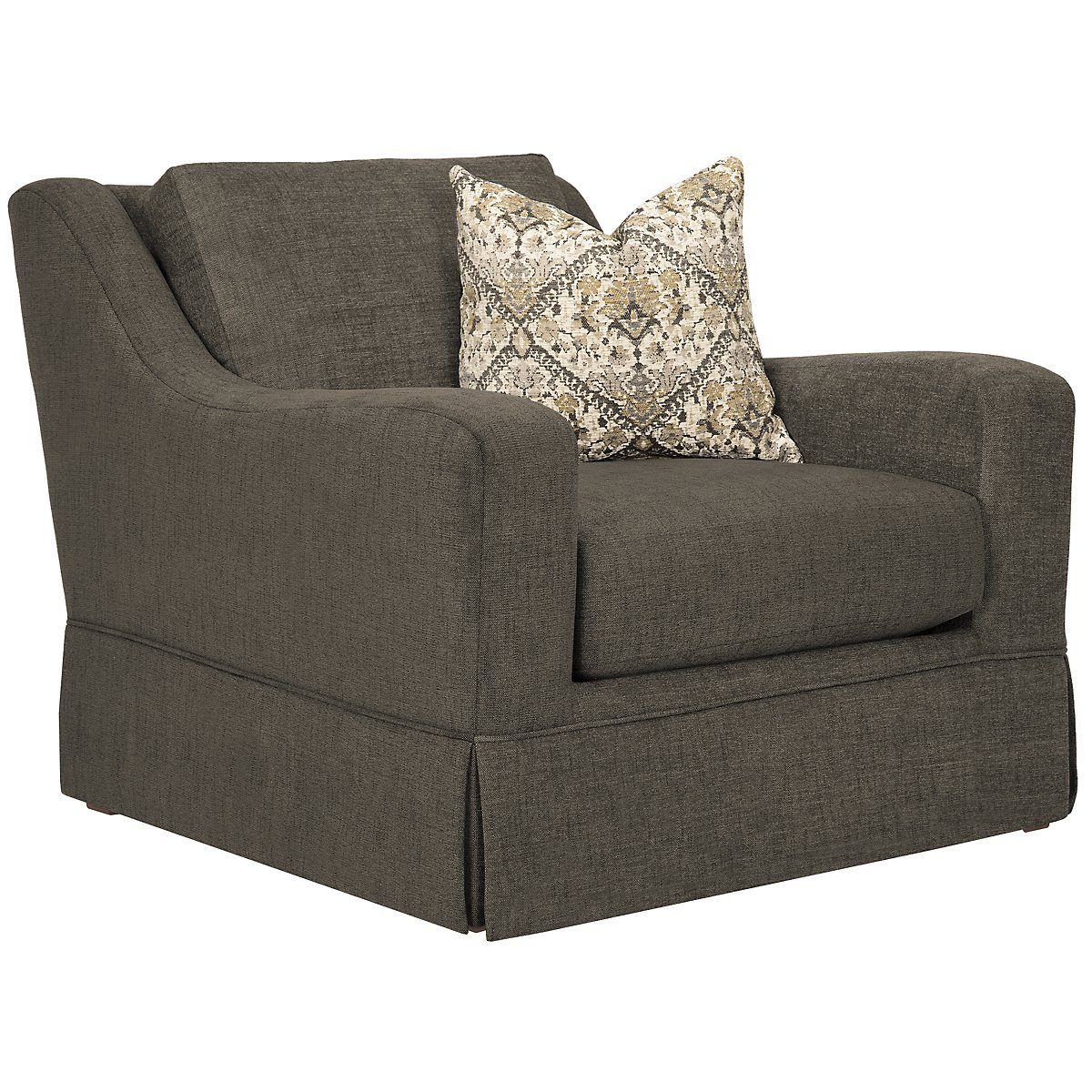Hallie Dark Gray Fabric Chair