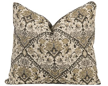 Hallie Gray Fabric Square Accent Pillow