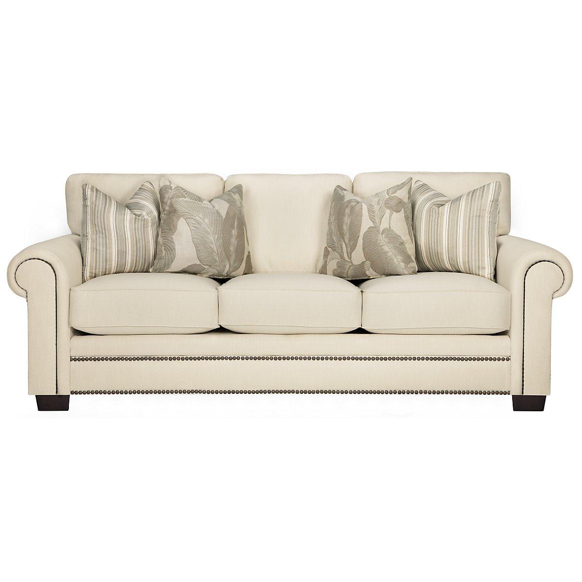 Erin White Fabric Sofa