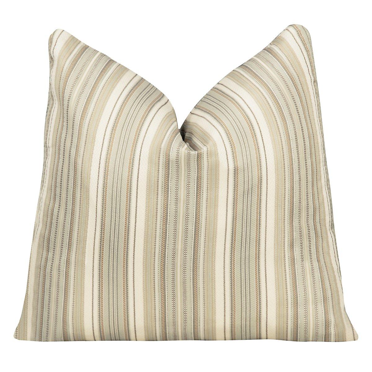 Erin Stripe Green Square Accent Pillow
