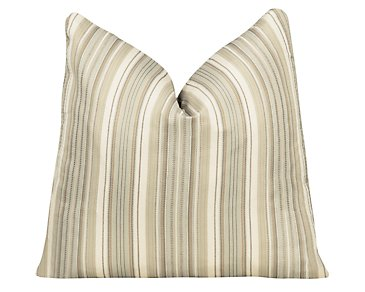 Erin Stripe Green Square Accent Pillow