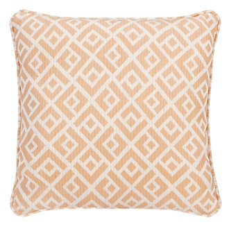 "Chipper Light Orange 18"" Indoor/Outdoor Accent Pillow"