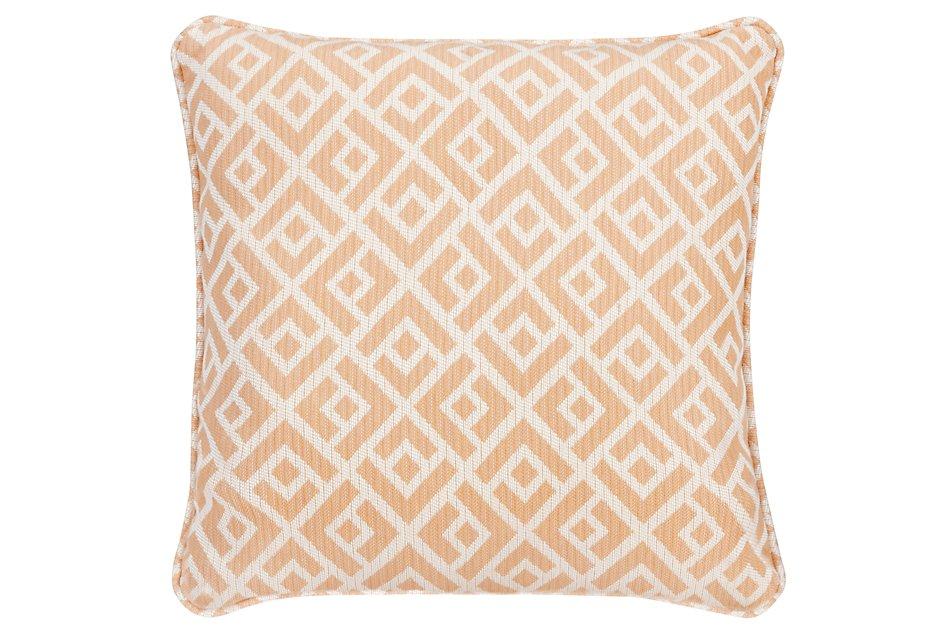 Chipper Light Orange Fabric Accent Pillow